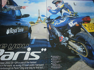 Kawasaki Zx-12R First Ride # Original Vintage Motorcycle Article # 5 Pages