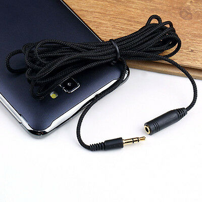 3.5mm Male to Female Stereo Audio Headphone Earphone Aux Extension Cord Cable 3M