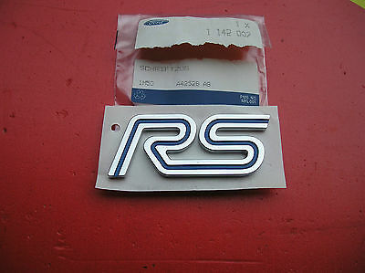 Ford Focus RS Mk1 02-04,NEW RS Name Plate,Blue/Crome Genuine Ford Part 1142007