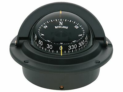 F83 Black Voyager Flush Mount Marine Power Boat Compass - Ritchie - BC3226