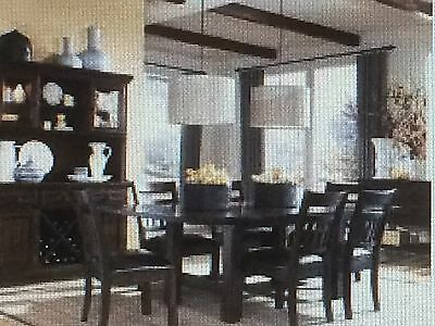 Legacy-West-Side-Trestle-Dining-Room Set-Leather Seat Chairs
