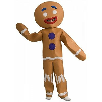 Gingerbread Man Costume Shrek Halloween Fancy Dress