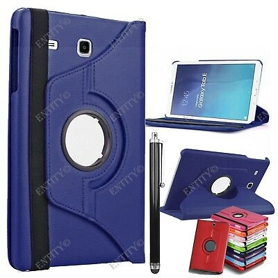 "Leather 360° Rotation Smart Stand Case Cover Samsung Galaxy Tab E 9.6"" T560 T561"