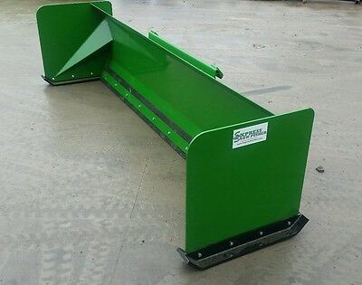 10' Snow pusher box John Deere quick attach FREE SHIPPING John Deere green