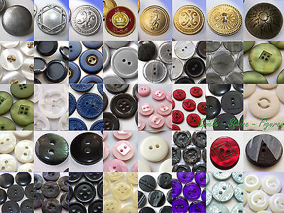 various Buttons, Trousers Shirt Blouses Coat Costume Horn Metal buttons