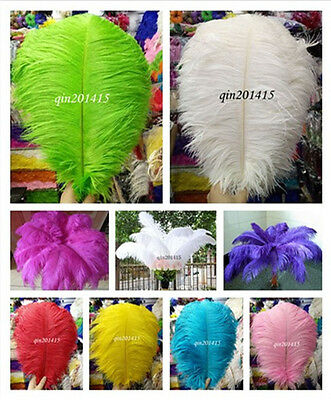 Wholesale 10-200pcs High Quality Natural Ostrich Feathers 16-24inches / 40-60cm