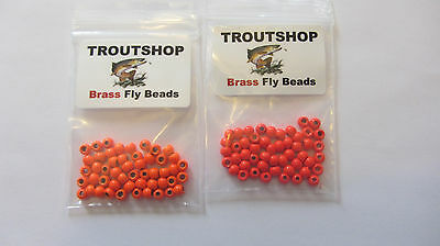 200 Brass Fly Tying Beads - 7 Sizes - 10 Colors - Free Shipping