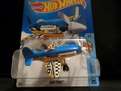 Hot Wheels 2016 #140//250 MAD PROPZ  blue and yellow HW Sky show Case D