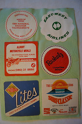 Collectable - Vintage - Group Lot of 11 Various - Advertising Coasters