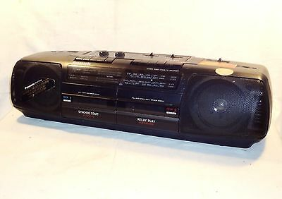Vintage Panasonic Rx-Ft510 Am-Fm Radio Dual Cassette Recorder Cd Line In Boombox