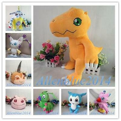 Digimons TRI Plush Stuffed Dolls Digital Monsters Toy Plushie Collection Gifts