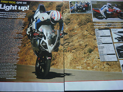 Derbi Gpr125 # First Ride # Original Motorcycle Article # 2 Pages