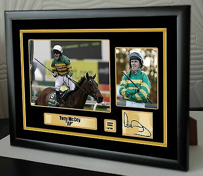 """AP McCoy Limited Edition Framed Canvas Tribute Print Signed """"Great Gift"""""""