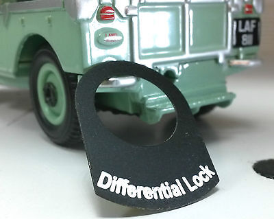 Land Rover Series 1 2 2a 3 Metal Switch Tab Decal Label Badge Differential Lock
