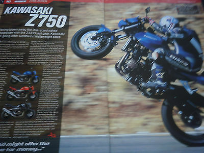 Kawasaki Z750 # The Launch # Original Motorcycle Article # 3 Pages