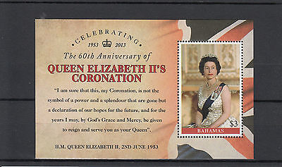 Bahamas 2013 MNH Coronation Queen Elizabeth II 1v S/S Celebrating Jubilee
