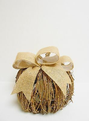 """Pier  1 imports LED Pre-Lit Vine Pumpkin with Bow Battery Operated 8"""" x 8"""""""