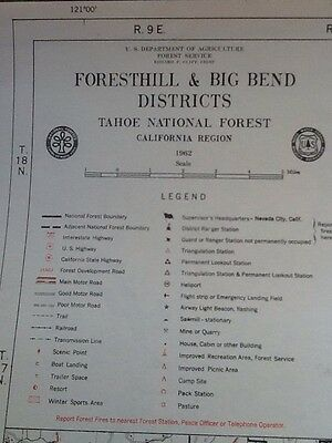 "1962 FORESTHILL & BIG BEND, DISTRICTS NATIONAL FOREST 20"" X 18"" Lot#14"