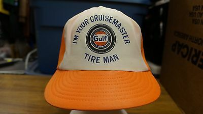 7bea1304aeb Vintage trucker hat Gulf classic cap snap back mesh orange cruisemaster gas  oil