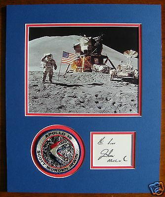 Jim Irwin Apollo 15 Signed Moon Autographed Display - Uacc & Aftal Rd
