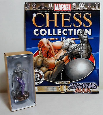 Marvel Chess Collection #15 Absorbing Man Crusher Creel Black Pawn Eaglemoss