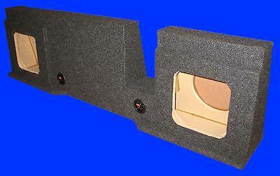 """Ford F150 Supercrew 2004-08 8"""" Square Down Fire Grey Subwoofer Sub Enclosure Box"""