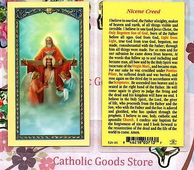 Angels with Holy Trinity - Nicene Creed - Laminated Holy Card