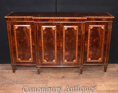 Regency Flame Mahogany Sideboard Server Buffet Satinwood Banding