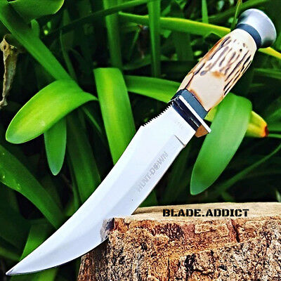 "9"" BONE COLLECTOR'S FIXED BLADE UPSWEPT SKINNING KNIFE Hunting Bowie Skinner"