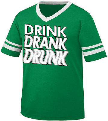 This Is My Official Drinking Shirt Bottles Booze Party Men/'s V-Neck Ringer Tee