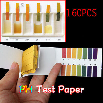 160pcs Universal PH Test Strips Litmus Paper Full Range 1-14 Testing Indicator