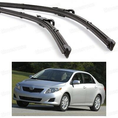 "26""14"" Car Front Windshield Wiper Blade Bracketless for Toyota Corolla 2007-2013"