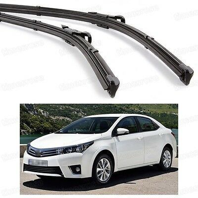"26""14"" Car Front Windshield Wiper Blade Bracketless for Toyota Corolla 2014-2016"