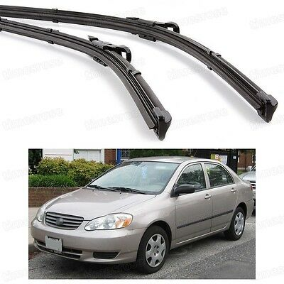 "24""16"" Car Front Windshield Wiper Blade Bracketless for Toyota Corolla 2002-2006"
