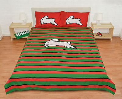 South Sydney Rabbitohs NRL 2016 Quilt Cover Set Single Double Queen Doona Duvet