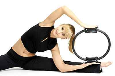 Pilates Abdominal Exerciser Fitness Rings Body Yoga Gym Workout Equipment Home