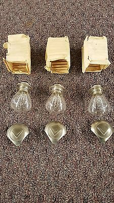 1955 Cadillac Eldorado Nos Light Bulbs And Lens Covers With Crest Vee $165