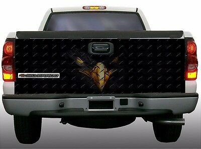 American Flag black eagle truck tailgate vinyl graphic decal wraps