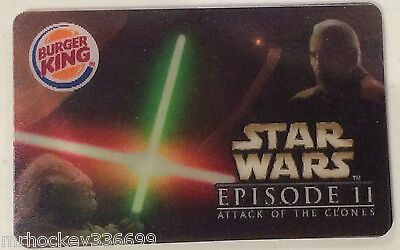 2005 BURGER KING STAR WARS EPISODE II Attack Of The Clones Collectible gift card