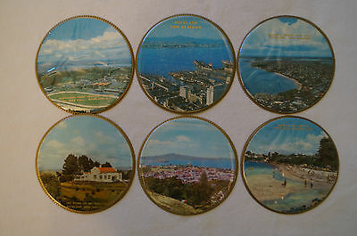 Collectable - Vintage - Group Lot of 6 - New Zealand - Plastic Coasters