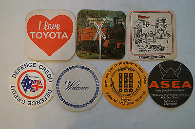 Collectable - Vintage - Group Lot of 7 Various - Card Coasters