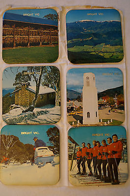 Collectable - Vintage - Group Lot of 12 - Bright, NT, SA - Solid Coasters