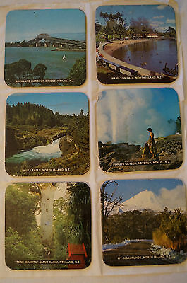 Collectable - Vintage - Group Lot of 6 - New Zealand - Solid Coasters
