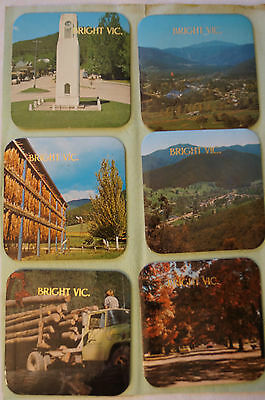 Collectable - Vintage - Group Lot of 6 - Bright - Solid Coasters