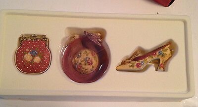Sandy's Closet - Victorian Shoe, Hat & Purse Christmas Ornaments