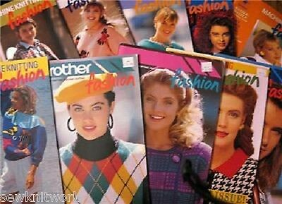 BROTHER KNITTING MACHINE PATTERNS  FASHION BOOKS on CD