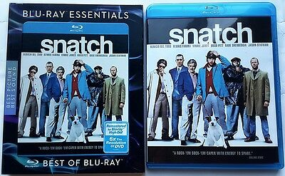 Snatch Blu Ray With Blu-Ray Essentials Slipcover Sleeve Free Worldwide Shipping