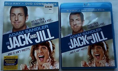 Jack And Jill Blu Ray + Dvd 2 Disc Set With Slipcover Sleeve Free World Shipping