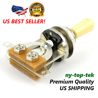 New! 3 Way Toggle Switch Pickup Selector for Electric Guitar Chrome /Cream Tip