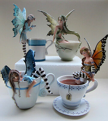 NIB Amy Brown set of 4 Collectibles Fairies  Faeries  C/18